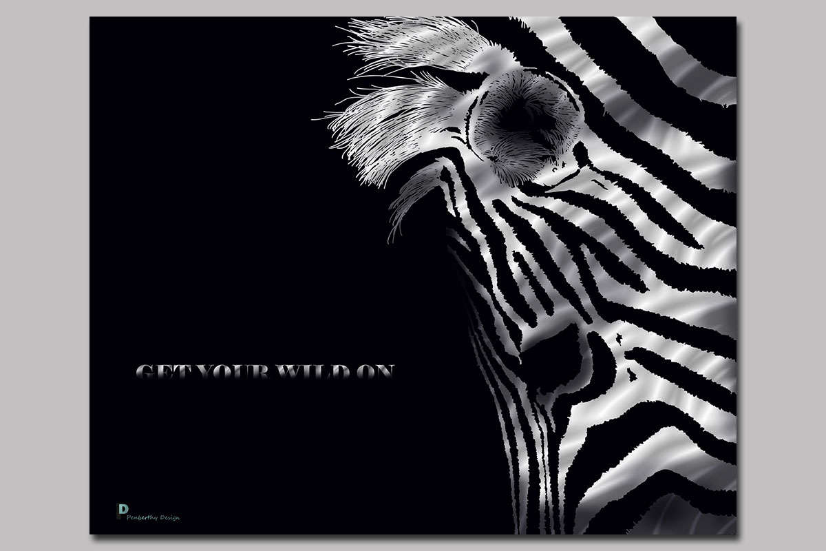 Zebra Poster Illustration
