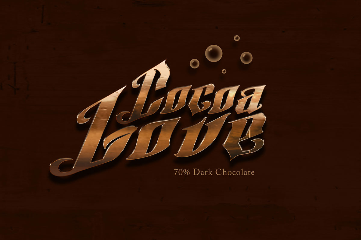 Cocoa Love Text Effect